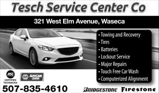 Tires, Batteries, Towing, Car Wash