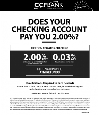 Does Your Cheking Account Pay You 2.00%?