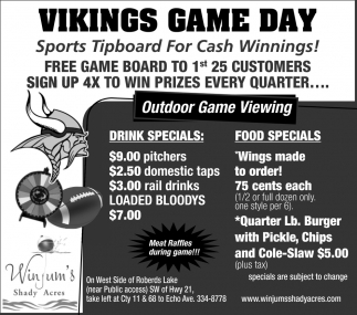 Vikings Game Day