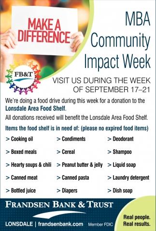 MBA Community Impact Week