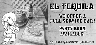 We offer full service bar! - Party room available!