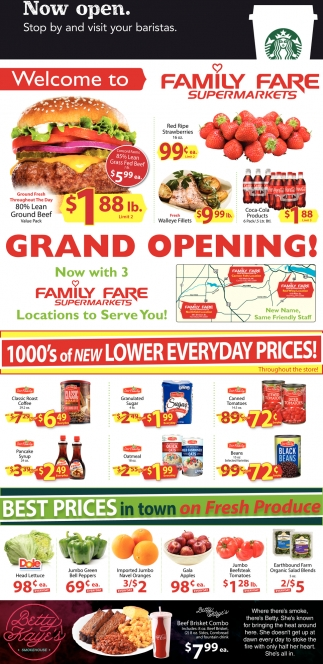 Grand Opening!, Family Fare, Northfield, MN