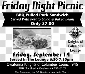 Friday Night Picnic - September 14