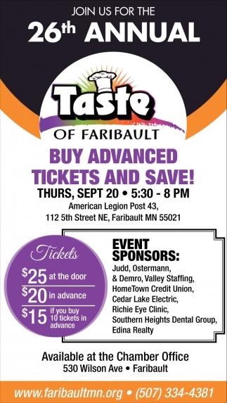 26th Annual Taste of Faribault