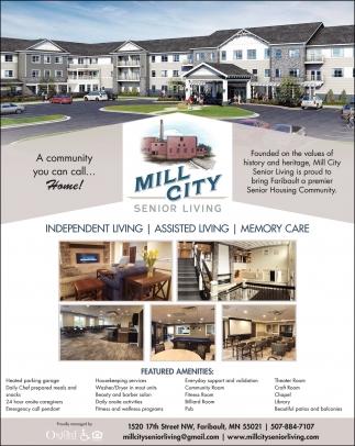 Proud to bring Faribault a premier Senior Housing Community
