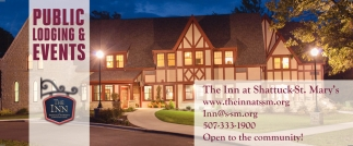 Public Lodging & Events, The Inn at Shattuck-St. Mary's, Faribault, MN