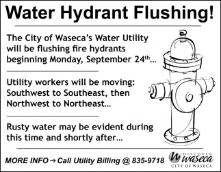 Water Hydrant Flushing!