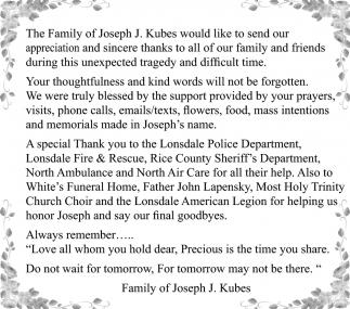 Famiy of Joseph J. Kubes
