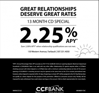 Great Relationships Deserve Great Rates - 2.25% APY