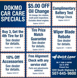 Dokmo Car Care Specials
