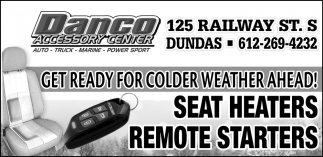 Get ready for colder weather ahead!, Danco Accessory Center, Dundas, MN