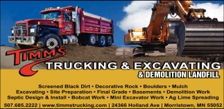 Trucking, excavating & demolition landfill