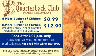 8-Piece Bucket of Chicken $8.99