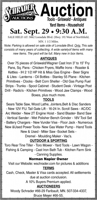 Tools, Griswald, Antiques, Yard Items, Household