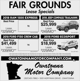 Fair Grounds - Lease Special