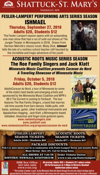 Fesler-Lampert Performing Arts Series Season