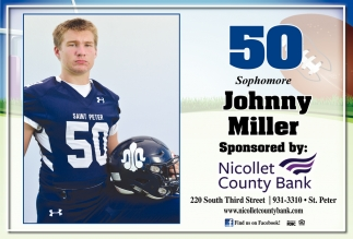 50 Sophomore Johnny Miller