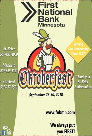 Oktoberfest September 28-30, 2018