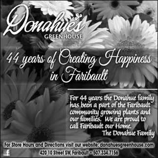 44 years of Creating Happiness in Faribault
