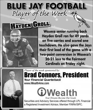 Player of the Week - Hayden Groll