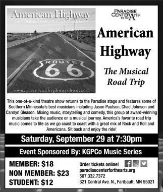 American Highway - The Musical Road Trip