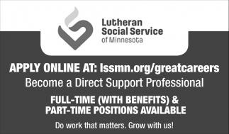 Become a Direct Support Professional