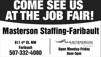 Come see us at the job fair