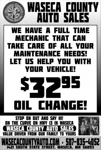 $32.95 Oil Change