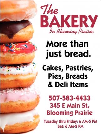 Cakes, Pastries, Pies, Breads, Deli