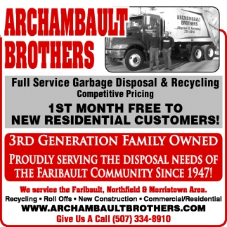 Ads For Archambault Brothers in Southern Minn