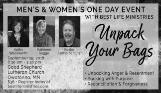 Men's & Women's One Day Event, Good Shepherd Church