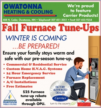 Fall Furnace Tune-Ups