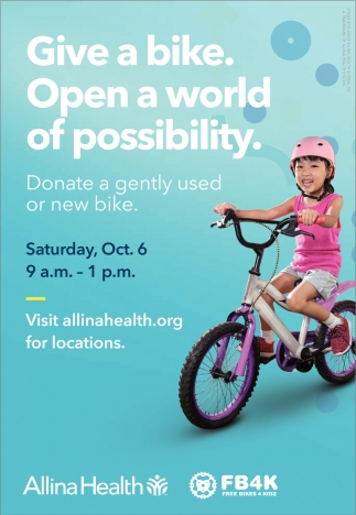 Give a bike. Open a word of possibility