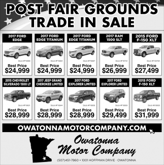 Post Fair Grounds - Trade in Sale