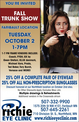You're Invited Fall Trunk Show