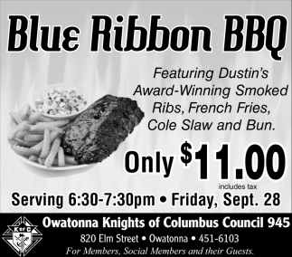 Blue Ribbon BBQ $11.00
