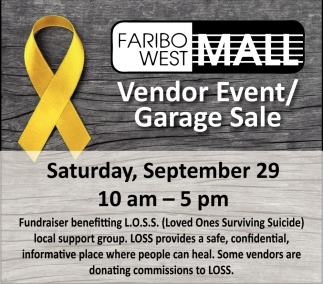 Vendor Event/Garage Sale, Faribo West Mall, Faribault, MN