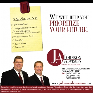 WE WILL HELP YOU PRIORITIZE YOUR FUTURE