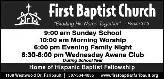 Home of Hispanic Baptist Fellowship