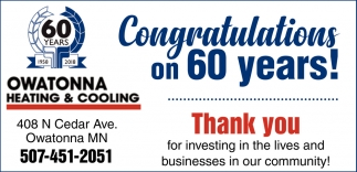 Congratulations on 60 years!