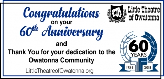 Congratulations on your 60th Anniversary