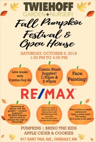 Fall Pumpkin - Festival & Open House
