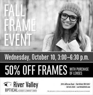 Fall frame event 50% off frames
