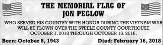 Memorial Flag of Jon Peglow