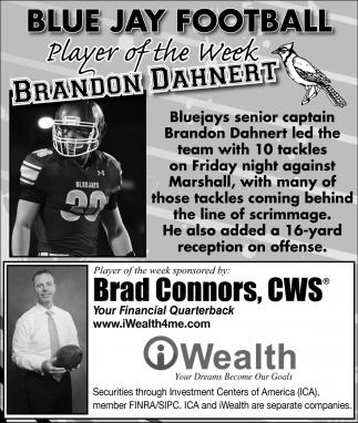 Player of the Week - Brandon Dahnert