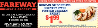 Super Coupon - Redeem at Meat Counter