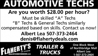 Automotive Techs