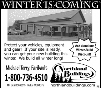 Ask about our Winter-Build Discount!, Northland Buildings, Eau Claire, WI