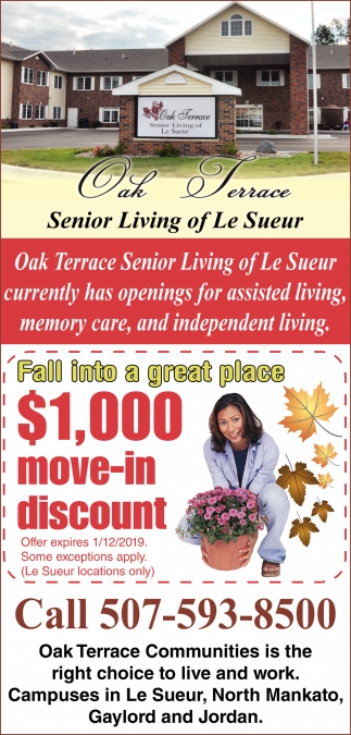 Fall into a great place $1,000 move-in discount