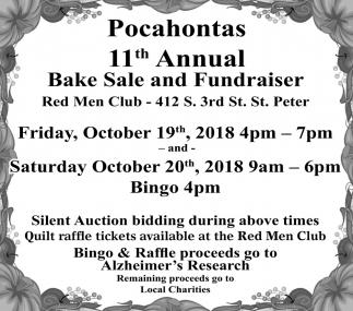 11th Annual Bake Sale Fundraiser